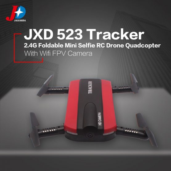 OCDAY JINXINGDA 523 Tracker 2.4G Foldable Mini Selfie RC Drone Quadcopter Camera